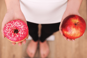 Donut and Apple